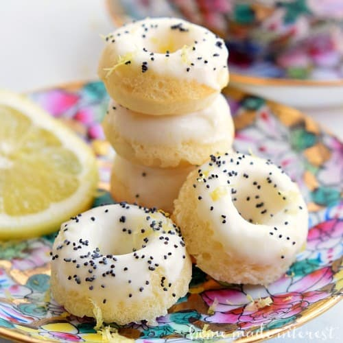 lemon poppy seed donuts for brunch
