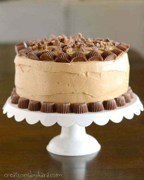 Reese's Peanut Butter birthday cake