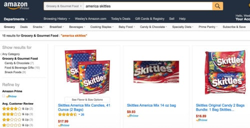 Skittles America Mix for marshmallow popcorn balls