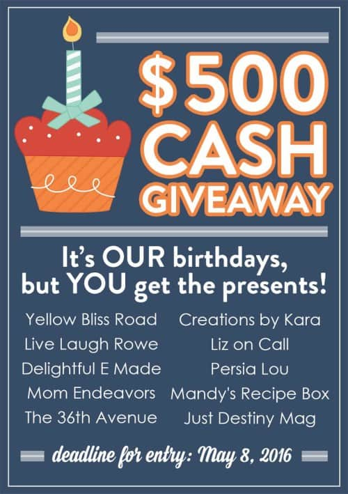 birthday cash giveaway and birthday cake recipes