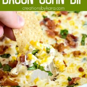 hot bacon corn dip pinterest pin