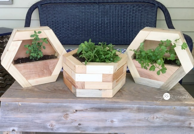 hexagon planters, MyLove2Create