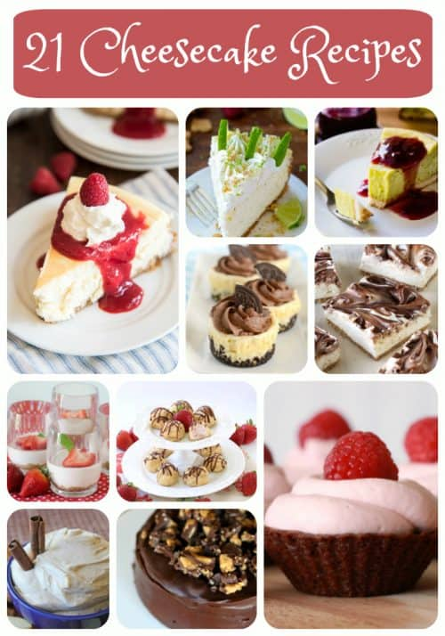 21 cheesecake recipes