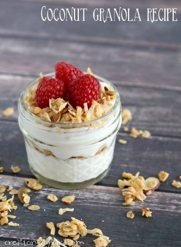 coconut granola yogurt parfait