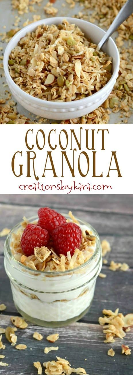 Recipe for delicious coconut granola - a healthy and delicious breakfast or snack
