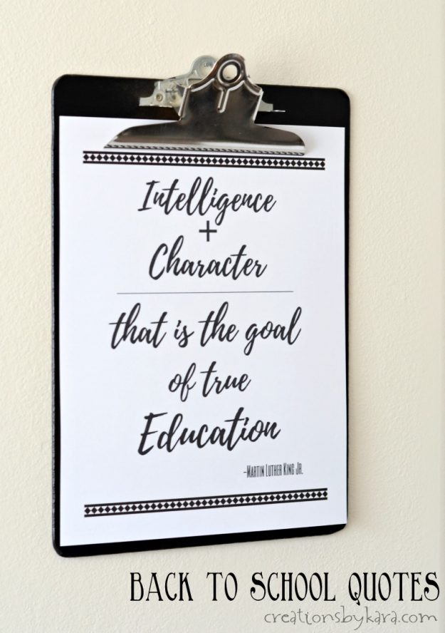 Free Printable Back to School Quotes with HP Printer - Creations by Kara