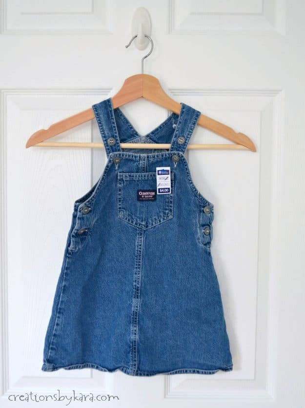 Denim Overall Twirl Skirt Tutorial - make a darling outfit from an old jumper!