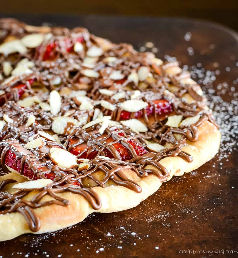 Strawberry Nutella Pizza Creations By Kara