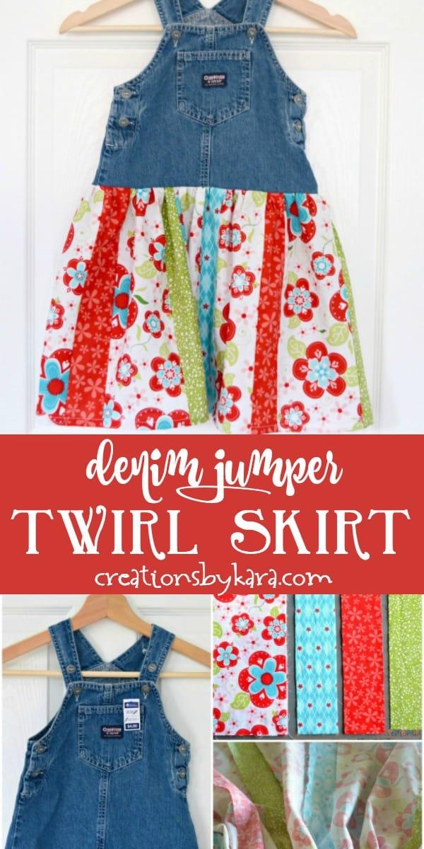 denim jumper twirl skirt photo collage