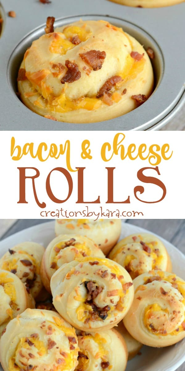 bacon and cheese rolls recipe collage