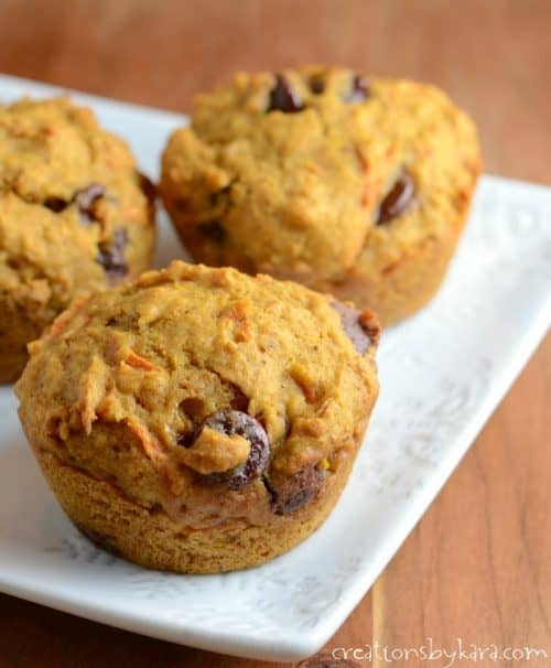 Healthy Pumpkin Muffins made with whole wheat and honey. These muffins are delicious!