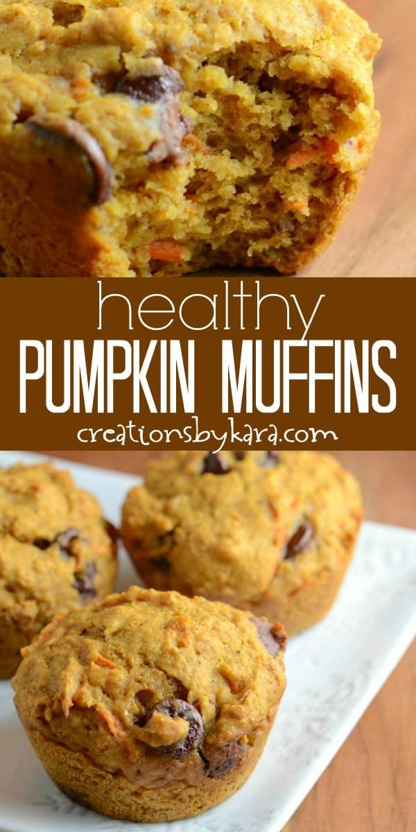 healthy pumpkin muffins recipe collage