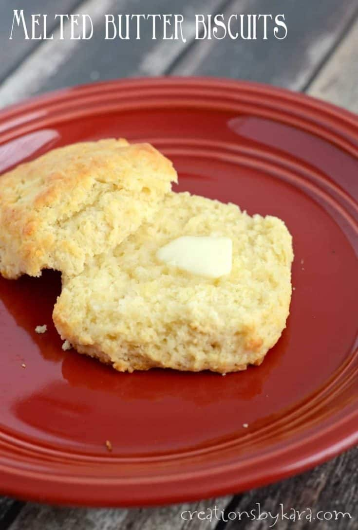 Melted Butter Biscuits