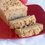 This applesauce bread is a must make fall quick bread. The crumb topping is fantastic!