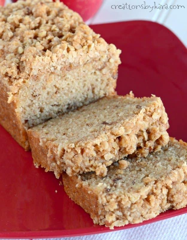 Applesauce Bread - Creations by Kara