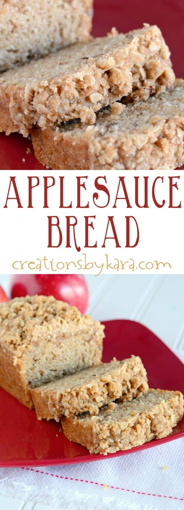 applesauce bread recipe collage