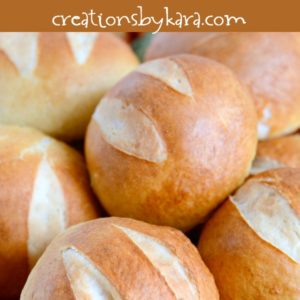 soft and chewy pretzel rolls recipe
