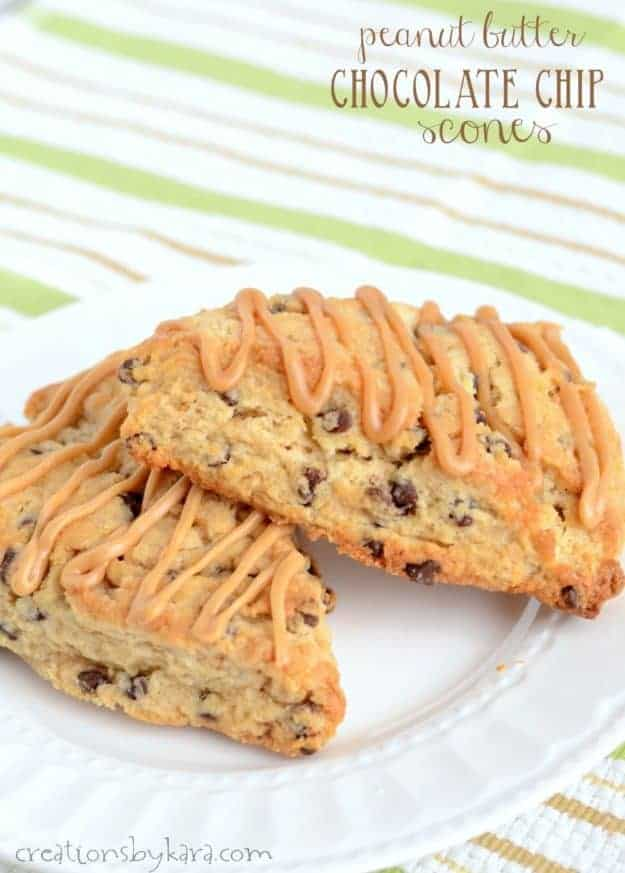 recipe for chocolate chip peanut butter scones