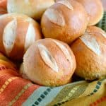 Soft and chewy pretzel rolls. A fantastic roll recipe!