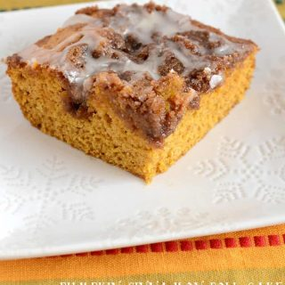 Pockets of cinnamon sugar make this Pumpkin Cinnamon Roll Cake one of the best pumpkin cakes you will ever eat!