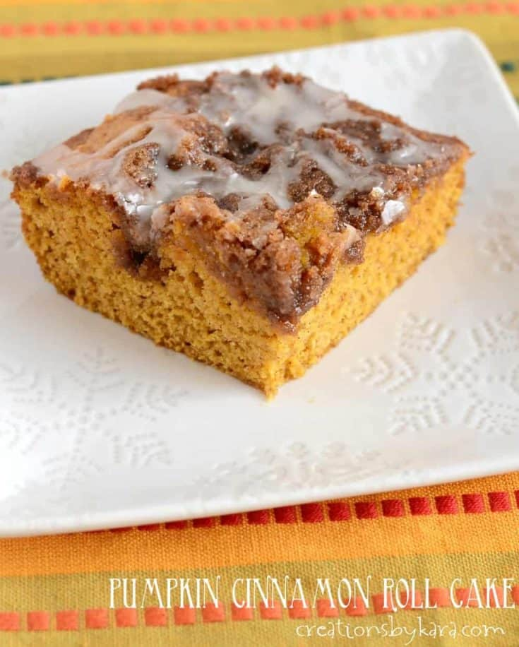 Pumpkin Cinnamon Roll Cake Recipe