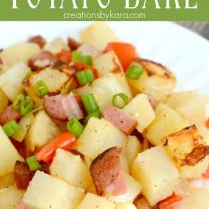smoked sausage and potato bake recipe Pinterest Pin