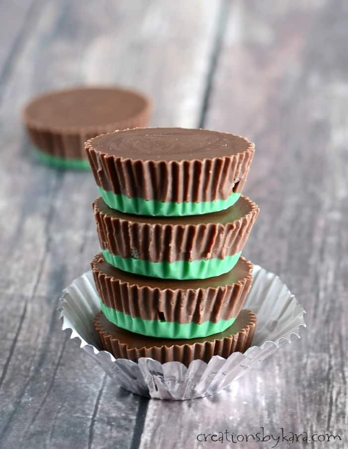 These four ingredient Mint Chocolate Candies have an unexpected crunch from Oreos. They are so tasty!