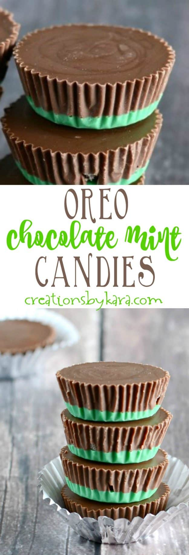 oreo chocolate mint candies recipe collage
