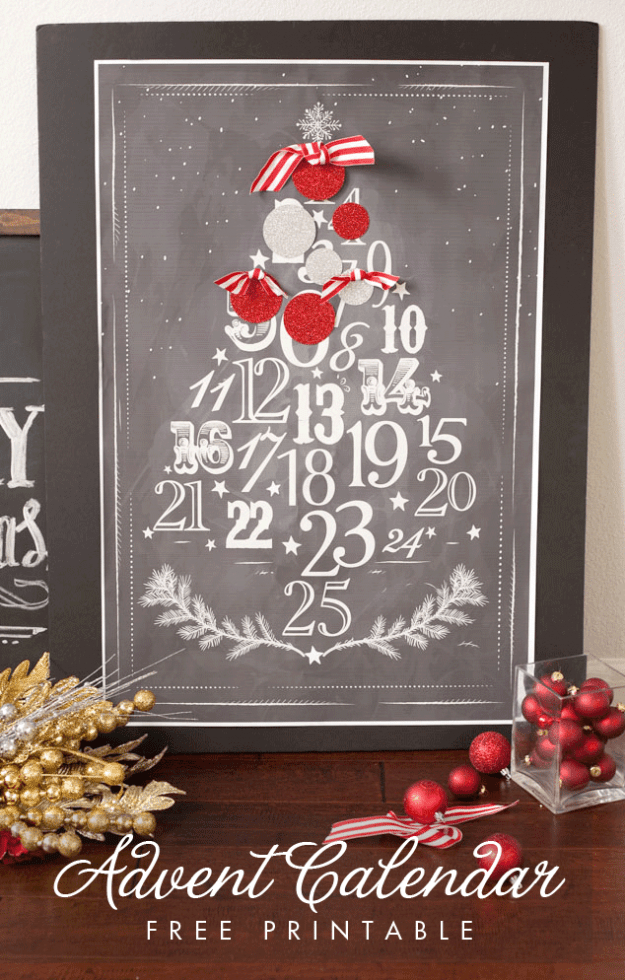 free printable advent poster