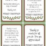 Spread a little joy this Christmas with these gratitude Christmas Gift Tags. A little appreciation goes a long way!