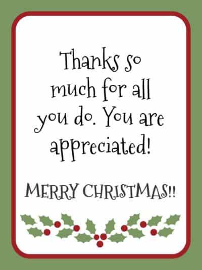 Gratitude Christmas gift tags