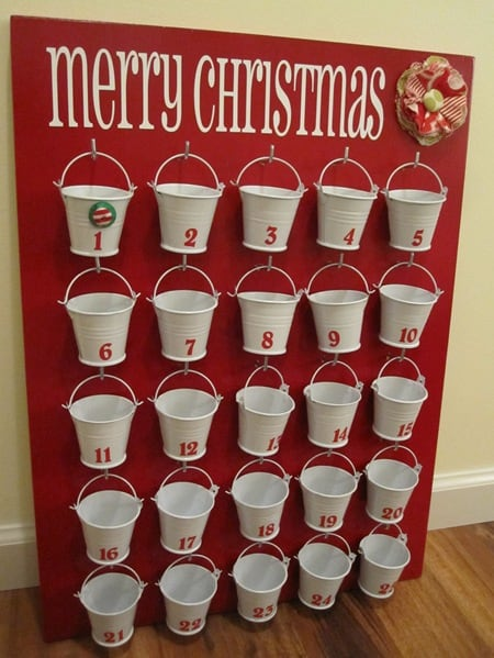 dollar store advent calendar