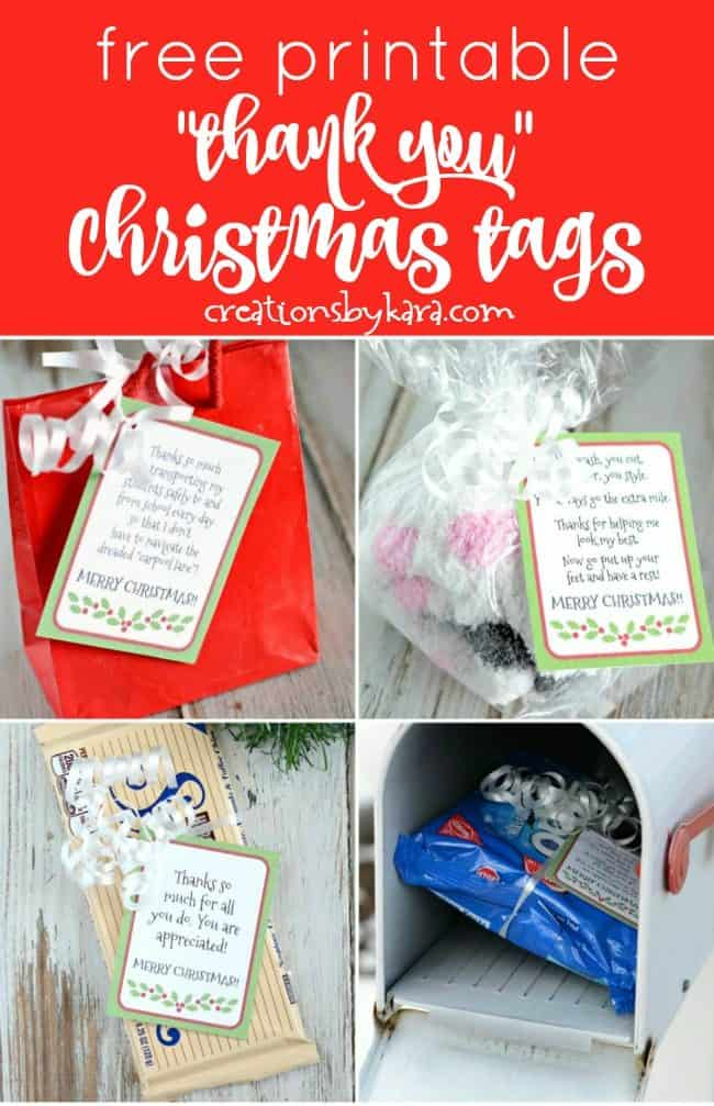 free printable gratitude Christmas tags collage