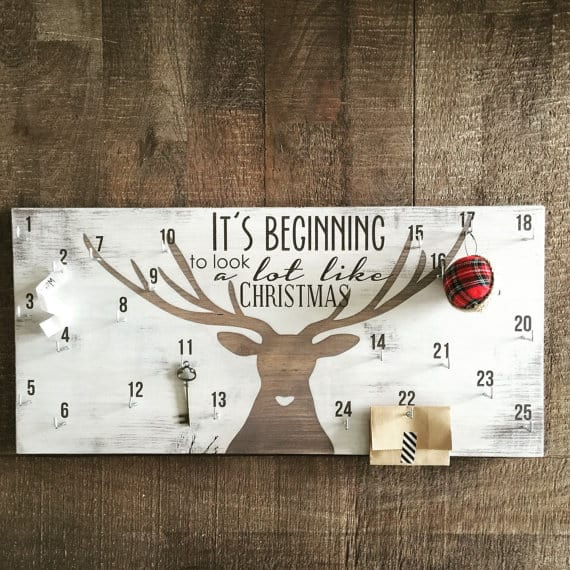 rustic wood christmas countdown