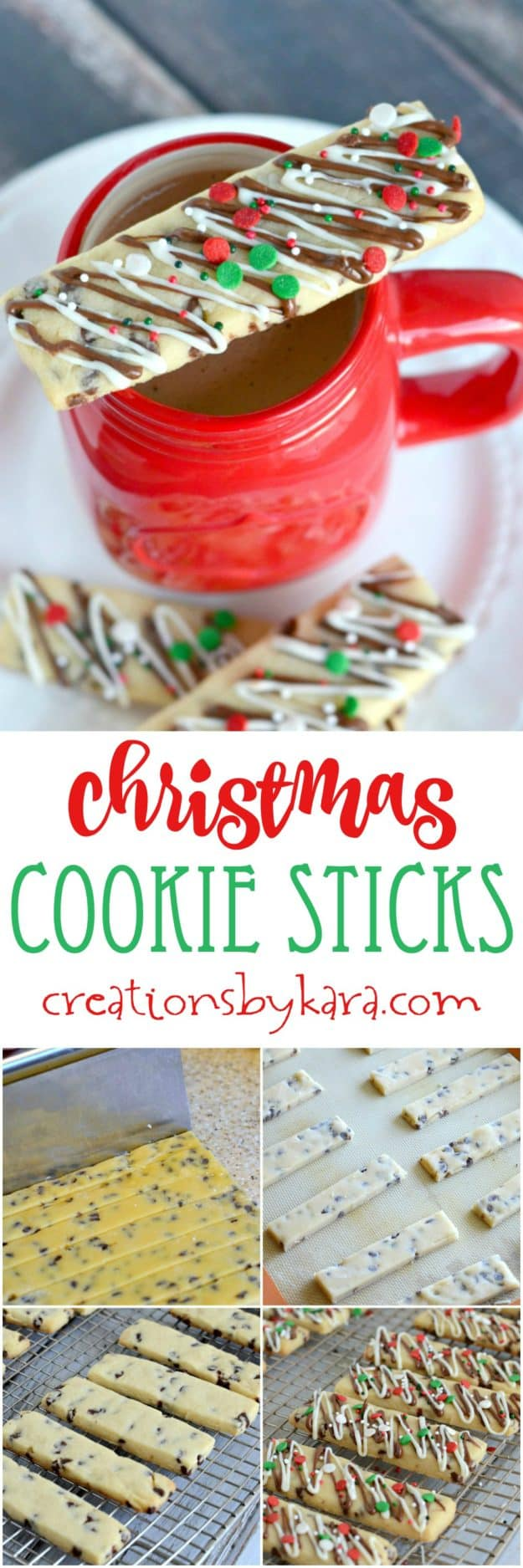 Christmas Cookie Sticks recipe collage