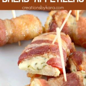 bread bacon appetizers pinterest pin