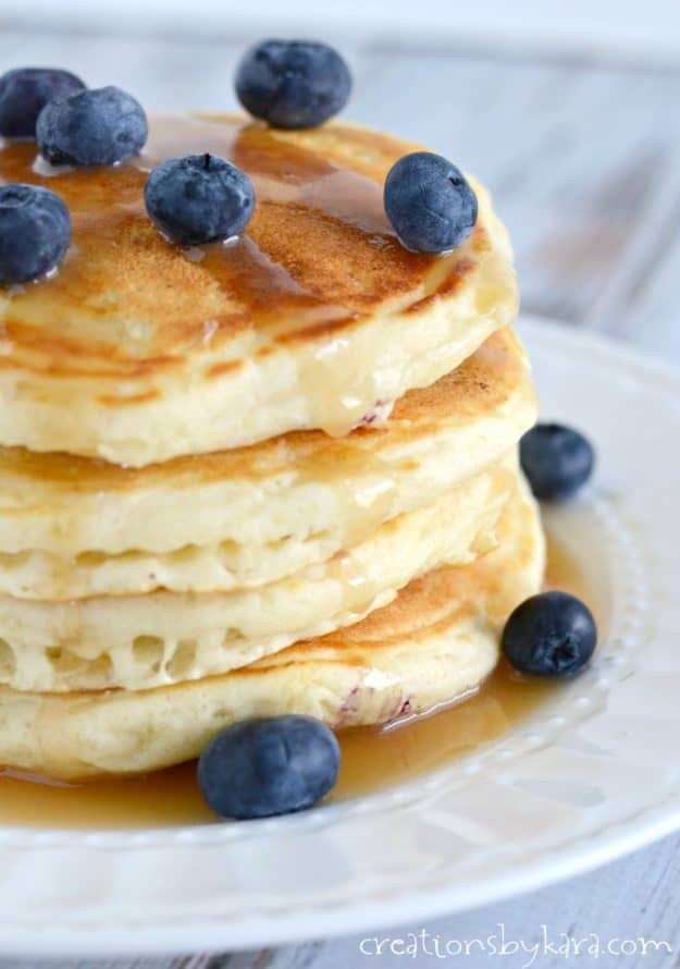 Homemade blueberry pancakes recipe. A simple blueberry pancake recipe ...