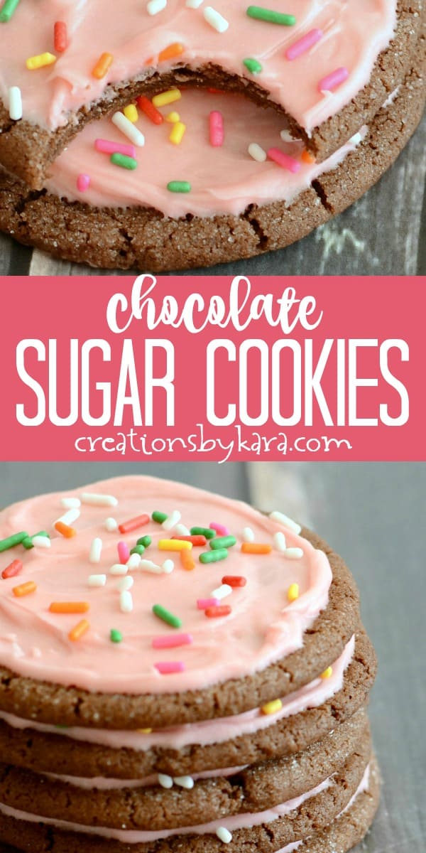 chocolate sugar cookies recipe collage