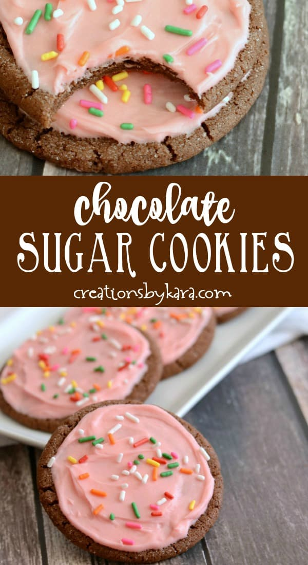 chocolate sugar cookies recipe collage