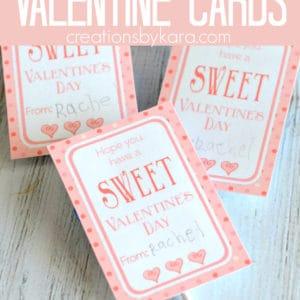 polka dot classroom valentine card