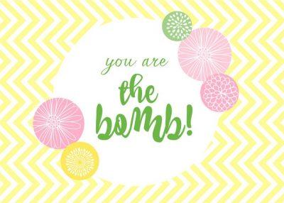 Free printable bath bomb gift tags