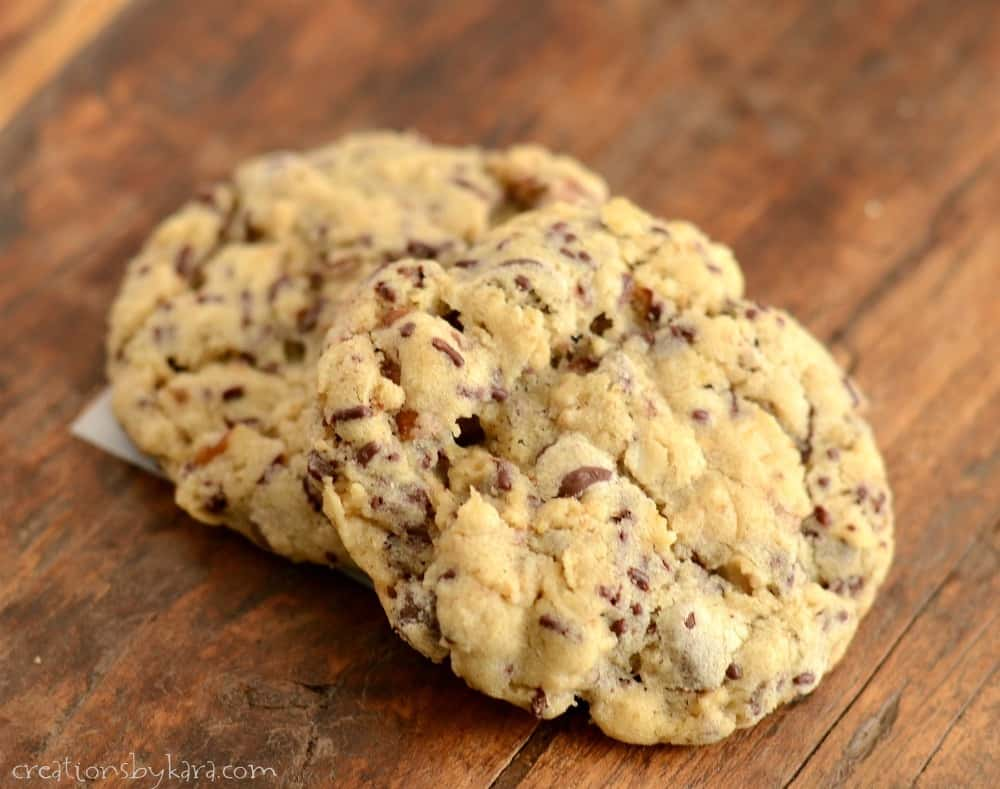 Chocolate Chip Cookies with Chocolate Sprinkles - Creations by Kara