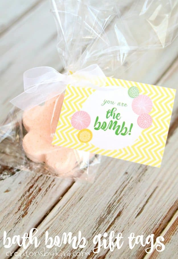 Bath Bomb in a bag with Gift Tag