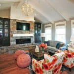 Room Inspiration: Navy and Coral Family Room