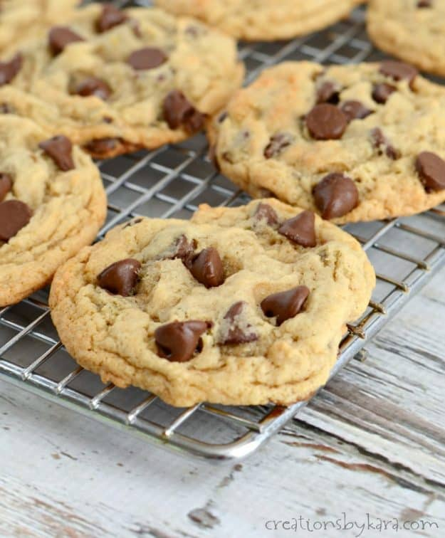 Recipe for banana chocolate chip cookies that are chewy instead of cakey.