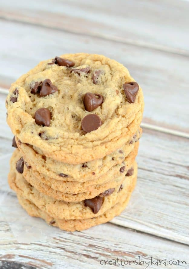 Recipe for easy banana chocolate chip cookies. These banana cookies always get rave reviews!