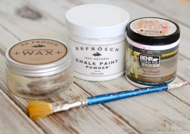 How to paint a chandelier with chalk paint and BB Frosch chalk paint powder