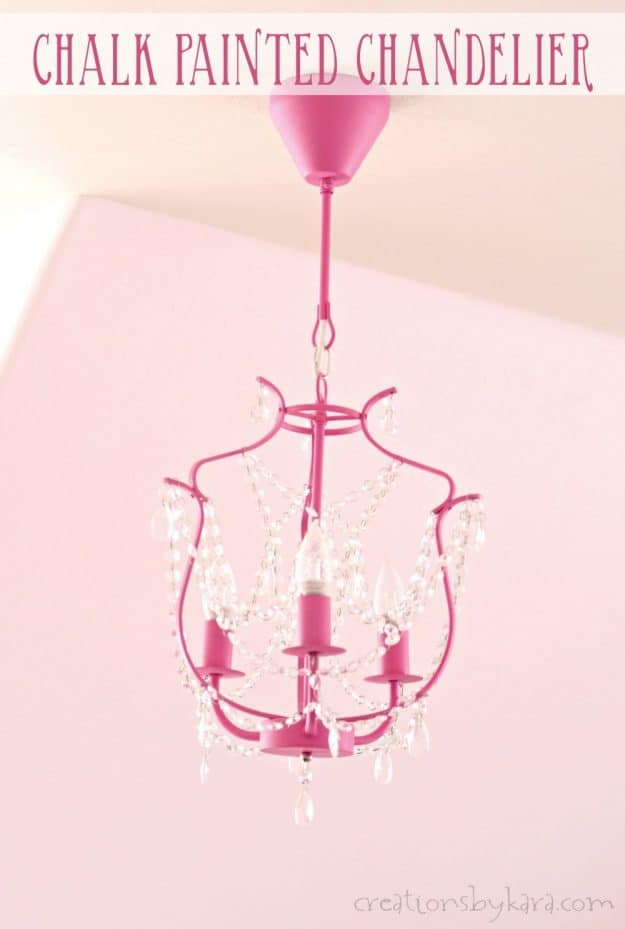 Chalk painted chandelier ikea kristaller chandelier creations by kara add personality to your home with a pretty painted chandelier how to paint a chandelier aloadofball Choice Image