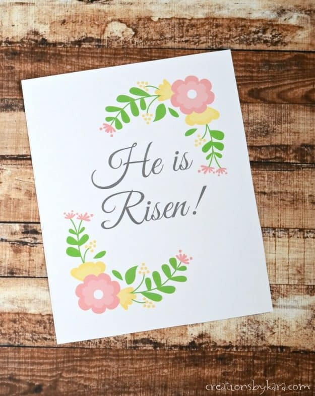 Free Easter Printable - He Is Risen!