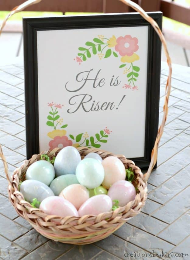 Easter Egg Resurrection lesson and free printable - He is Risen. A perfect Easter lesson for kids.